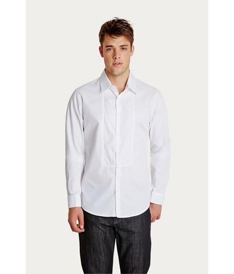 Imbracaminte Barbati GUESS Madoc Long-Sleeve Shirt true white