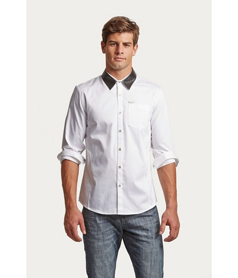 Imbracaminte Barbati GUESS Villain Long-Sleeve Shirt true white