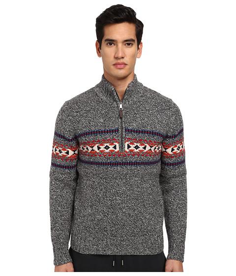 Imbracaminte Barbati Jack Spade Belmont Half Zip Fair Isle Sweater Black Marl