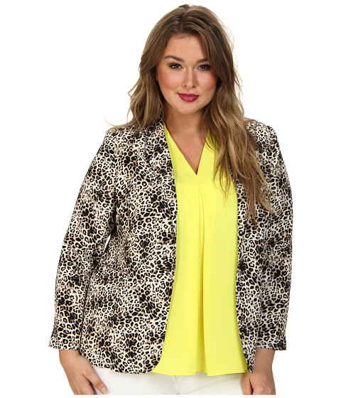Imbracaminte Femei Vince Camuto Plus One Button Animal Legacy Blazer Rich Black