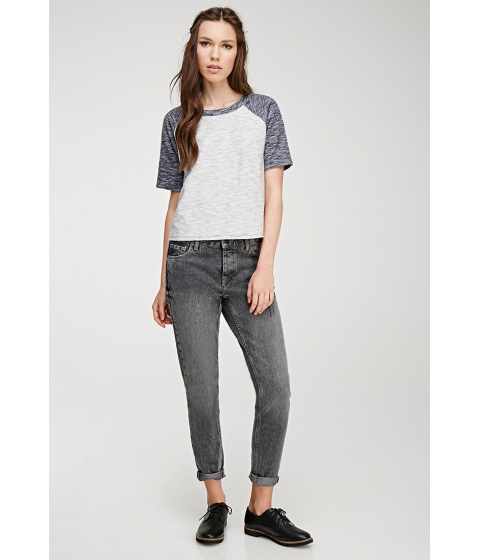 Imbracaminte Femei Forever21 Faded Skinny Mid-Rise Jeans Grey