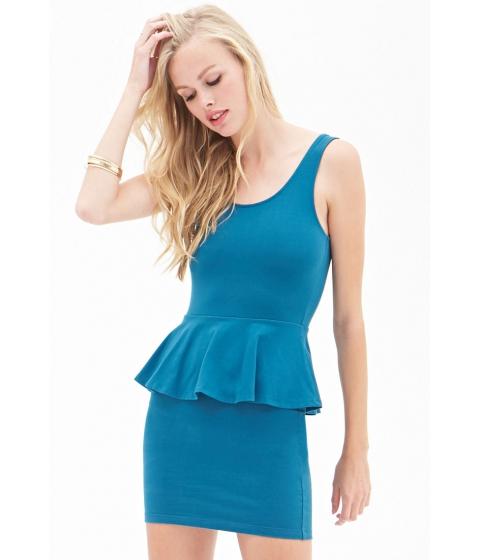 Imbracaminte Femei Forever21 Classic Peplum Dress Teal