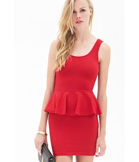Imbracaminte Femei Forever21 Classic Peplum Dress Red