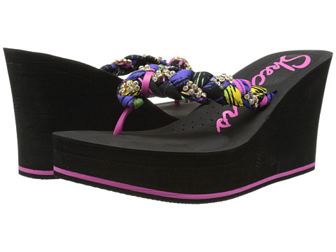 Incaltaminte Femei SKECHERS Cabanas-Beach Bag Purple Multi
