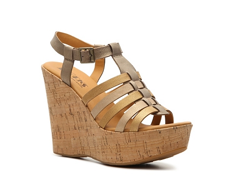 Incaltaminte Femei Korks by Kork-Ease Poppy Wedge Sandal BronzeGold