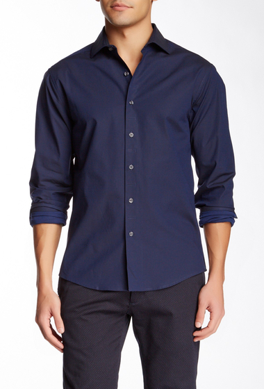 Imbracaminte Barbati Vince Camuto Solid Long Sleeve Slim Fit Sport Shirt NAVY
