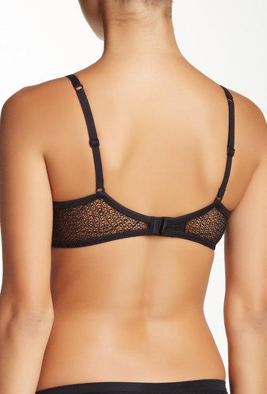 Imbracaminte Femei Calvin Klein Perfectly Fit Lace Trim T-Shirt Bra BLACK