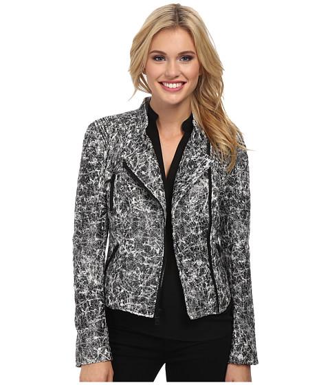 Imbracaminte Femei Sam Edelman Crackle Moto Jacket BlackWhite