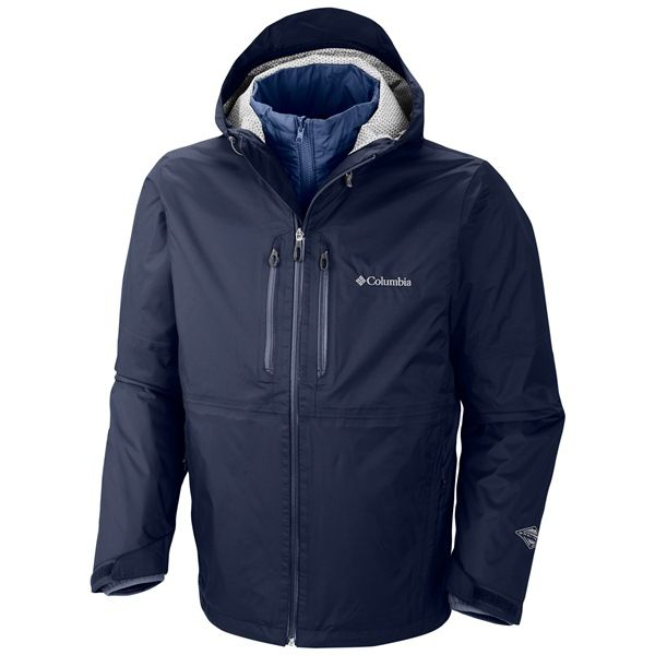 Imbracaminte Barbati Columbia Northwest Traveler Omni-Heat Interchange Jacket - Waterproof Insulated 3-in-1 FLAME (02)