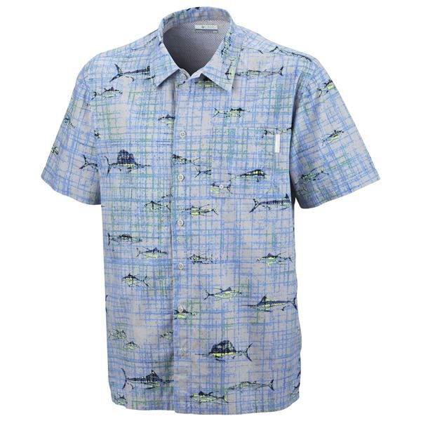 Imbracaminte Barbati Columbia Trollers Best PFG Shirt - UPF 50 Short Sleeve STINGER HAWAIIAN PRINT (42)
