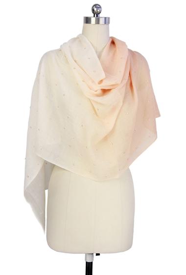 Accesorii Femei Saachi Peach Ombre Allover Embellishment Linen Wrap No Color