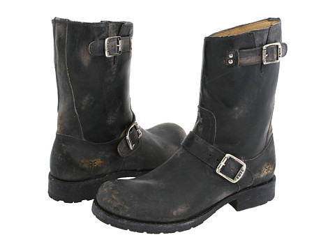 Incaltaminte Barbati Frye Rogan Engineer Black Stone Wash Leather