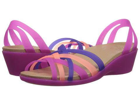 Incaltaminte Femei Crocs Huarache Mini Wedge Vibrant VioletMelon
