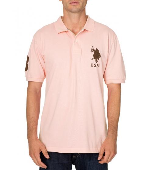 Imbracaminte Barbati US Polo Assn Big and Tall Polo Shirt PINK ROSE