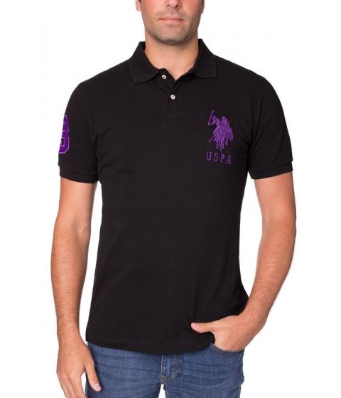 Imbracaminte Barbati US Polo Assn Big and Tall Polo Shirt BLACK PURPLE
