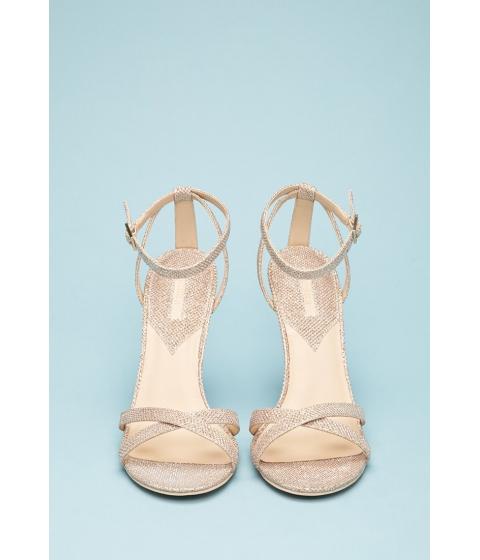 Incaltaminte Femei Forever21 Glittered Ankle-Strap Stiletto Sandals Champagne