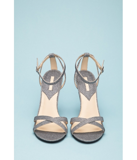 Incaltaminte Femei Forever21 Glittered Ankle-Strap Stiletto Sandals Silver