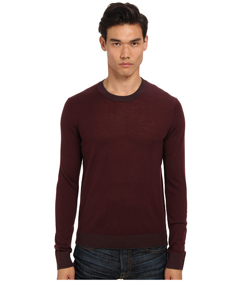 Imbracaminte Barbati Michael Kors Tipped Merino Crew Sweater Bordeaux