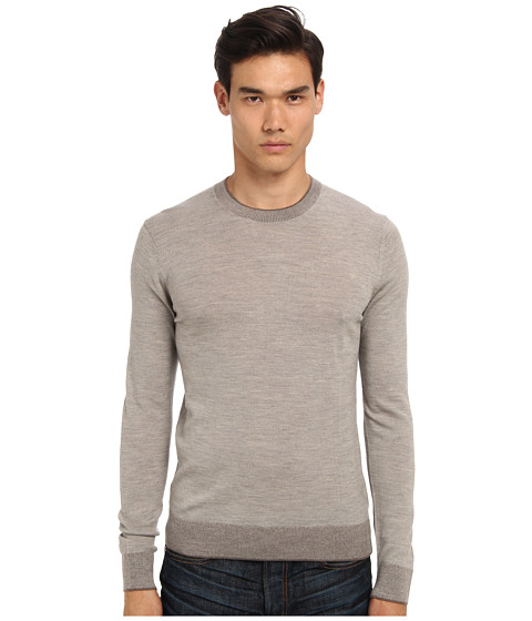Imbracaminte Barbati Michael Kors Tipped Merino Crew Sweater Oatmeal Melange