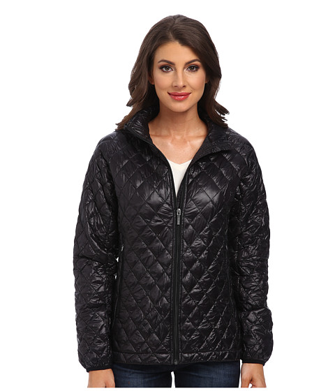 Imbracaminte Femei Rain Forest Zip Front ThermoLuxe Quilt Jacket Black