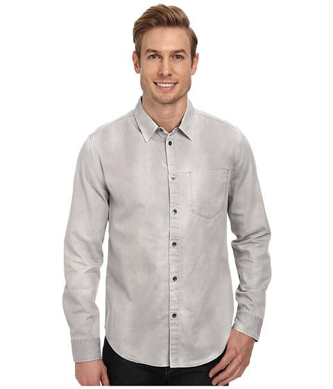 Imbracaminte Barbati Calvin Klein Washed Denim Sport Shirt Pale Mortar