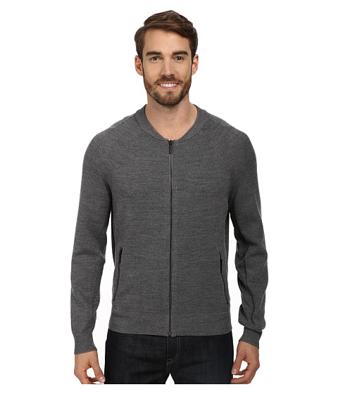 Imbracaminte Barbati Kenneth Cole LS Mock Raglan w Zip Flannel Heather