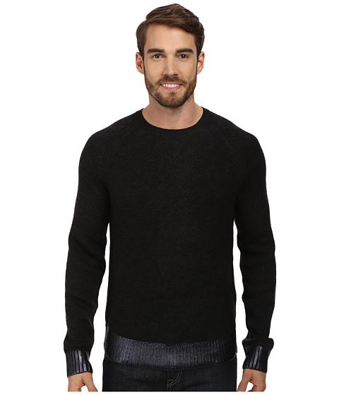 Imbracaminte Barbati Kenneth Cole LS Herringbone Crew Sweater Charcoal Heather