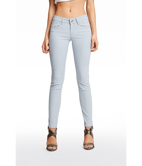 Imbracaminte Femei GUESS Contessa Diamond-Print Skinny Jeans light wash