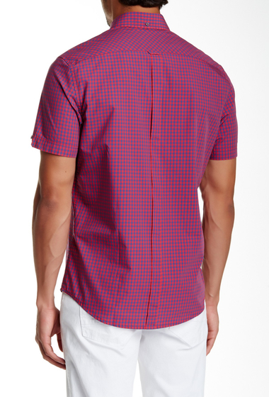 Imbracaminte Barbati Ben Sherman Regular Fit Gingham Plaid Shirt 63HCORAL R