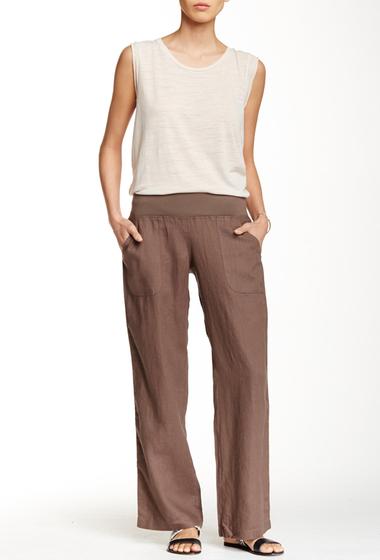 Imbracaminte Femei Allen Allen Linen Pants MUSHROOM