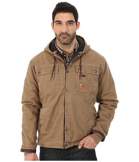 Imbracaminte Barbati Carhartt Sandstone Hooded Multi Pocket Jacket Frontier Brown