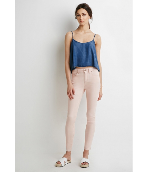 Imbracaminte Femei Forever21 Mid-Rise Skinny Jeans Peach