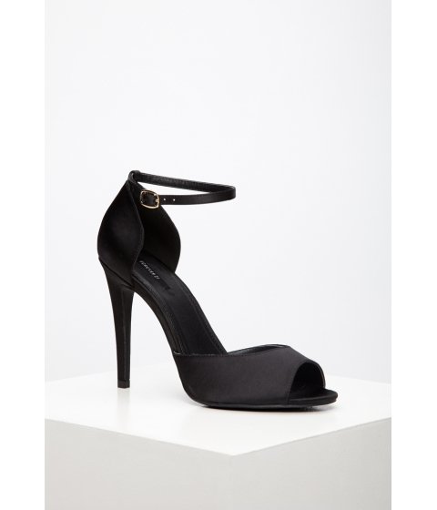 Incaltaminte Femei Forever21 Satin Ankle-Strap Sandals Black