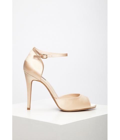 Incaltaminte Femei Forever21 Satin Ankle-Strap Sandals Champagne