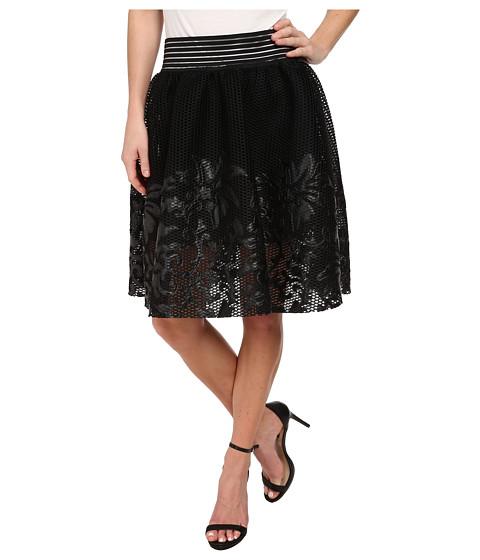 Imbracaminte Femei Sam Edelman Mesh w Floral Applique Skirt Black