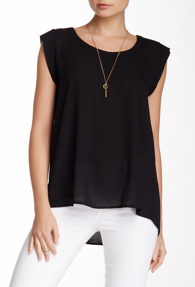 Imbracaminte Femei Pleione Cap Sleeve Pleat Back Blouse BLACK