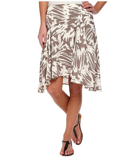 Imbracaminte Femei Vince Camuto Side Zip Asymmetrical Flounce Floral Burst Skirt White Clay