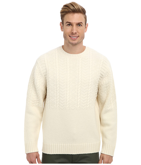 Imbracaminte Barbati Pendleton Merino Stitch Crew Sweater Cream