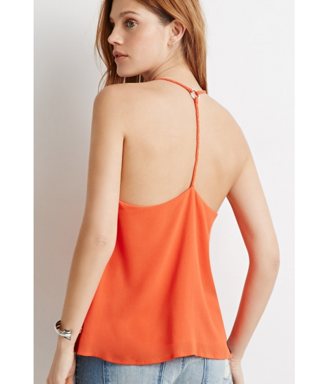 Imbracaminte Femei Forever21 Contemporary Braided Y-Back Cami Orange