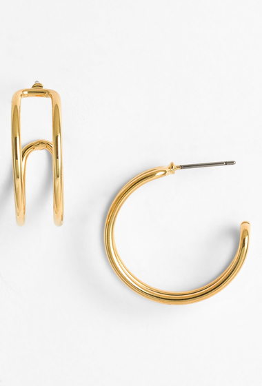 Bijuterii Femei Marc by Marc Jacobs Locked In Orbit Hoop Earrings ORO