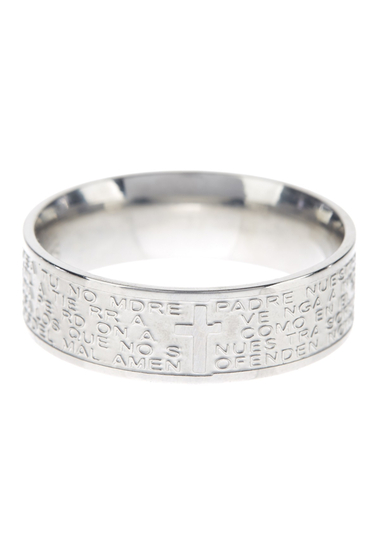 Bijuterii Femei Savvy Cie Lords Prayer Band Ring SILVER
