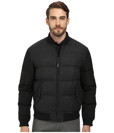 Imbracaminte Barbati Cole Haan Mixed Media Down Bomber Black