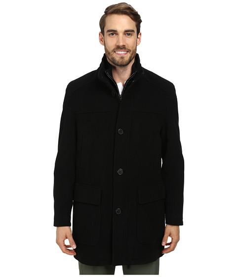 Imbracaminte Barbati Cole Haan Bib Front Wool Topper Black