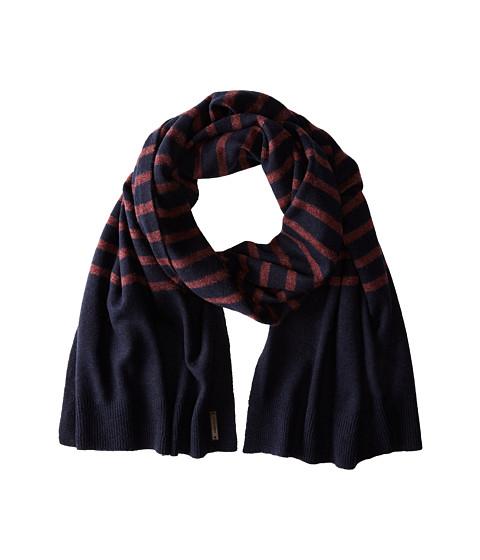 Accesorii Barbati Cole Haan Lightweight Wool Stripe Muffler Solid Blazer Blue