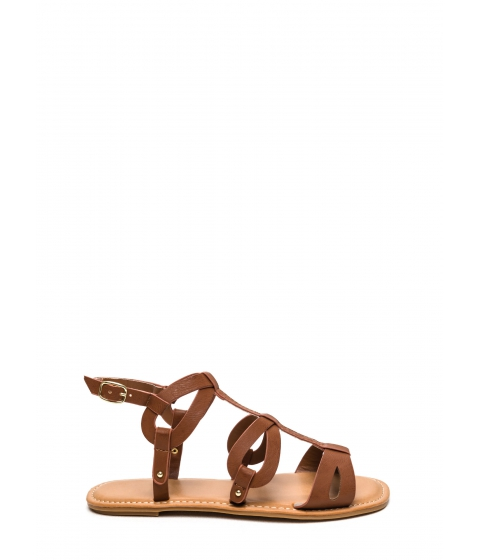 Incaltaminte Femei CheapChic Ready To Go Faux Leather Sandals Tan