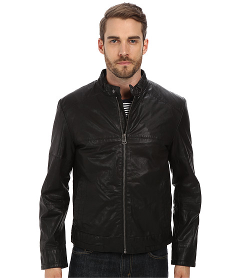 Imbracaminte Barbati Cole Haan Moto Jacket with Articulated Sleeves Black