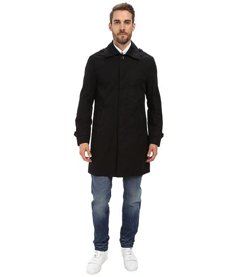 Imbracaminte Barbati Cole Haan Cotton Twill Topper with Leather Trim Black