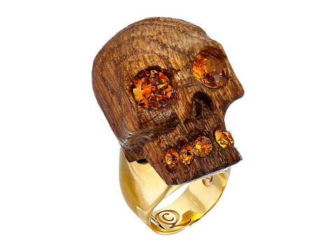 Bijuterii Femei Alexander McQueen Owl Skull Ring Topaz