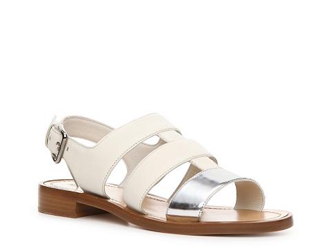 Incaltaminte Femei Miu Miu Metallic Leather Gladiator Sandal SilverWhite