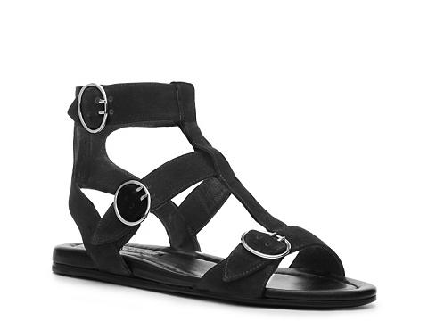 Incaltaminte Femei Prada Suede Gladiator Sandal Black